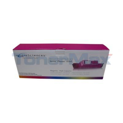 MEDIA SCIENCES TONER MAGENTA HY FOR XEROX PHASER 6360